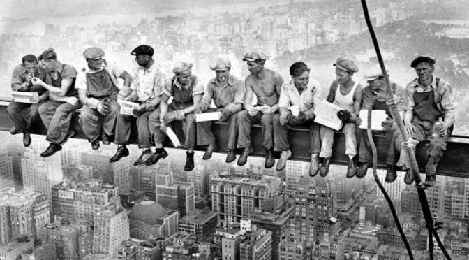 Museu de Imagens – Lunch Atop Skyscraper